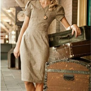All Aboard collection herringbone conductor dress